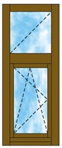 Tokosztott ablak felülvilágítóval