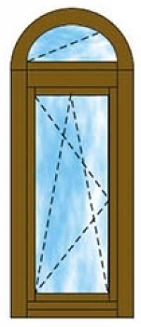 Íves felülvilágítós ablak